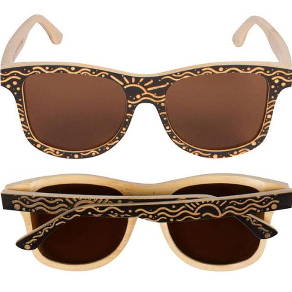 WOODIES Custom Designed Full Bamboo Wood Polarized Sunglasses