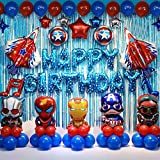 Superhero Birthday Party Decorations Kids Birthday Party Supplies Super Hero Balloons Perfect for Your Kids Theme Party
