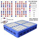 YaeTek 600W/800W/1000W/1200W LED Grow Light Full Specturm for Greenhouse and Indoor Plant Flowering Growing (Reflector 600W(Blue Box))