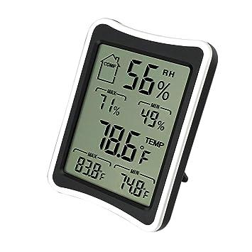 Termómetro digital de higrómetro interior, sensor de humedad y temperatura, monitor de confort doméstico