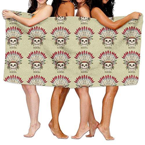 Indian Skulls Chief Bath Towel Adult Microfiber Towel 31 X 51 Inch Bath Sheet ()