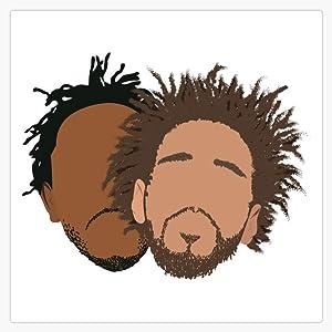 "J.Cole And Kendrick Lamar Vinyl Waterproof Sticker Decal Car Laptop Wall Window Bumper Sticker 5"""