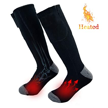 6f08b54bf4b Amazon.com  YIZRIO Electric Battery Heated Socks