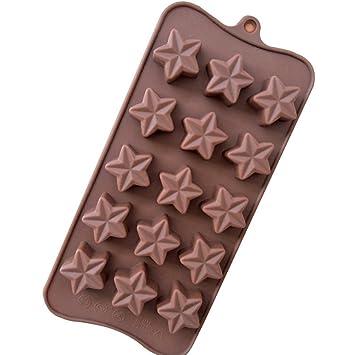 Creative pentagrama estrellas forma molde para jabón molde para galletas Chocolate Ice Cube Tray (Pack de 2): Amazon.es: Hogar