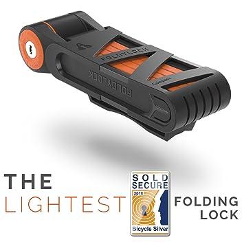Wow Store – foldylock Compact Bike Lock Bloqueo Cadena para bicicletas compacto de larga duración