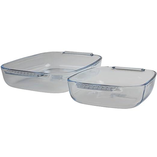 Pyrex fácil agarre 2 piezas Juego de para el horno (30 x 20 cm y ...