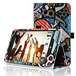Acdream At&t Asus Memo Pad 7 Lte Protective Case [With Auto Wake Sleep Feature] - Premium Pu Leather Smart Cover Case For At&t Asus Memo Pad 7 Lte Gophone Prepaid Tablet Me375cl, Graffiti Style1
