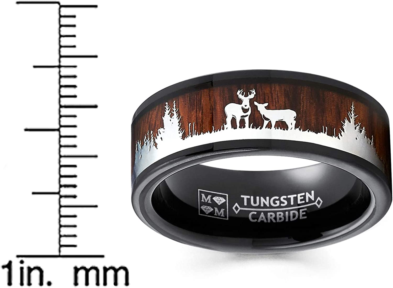tungsten deer band deer family tungsten ring tungsten ring deer deer hunting band tungsten band hunting deer ring deer tungsten band