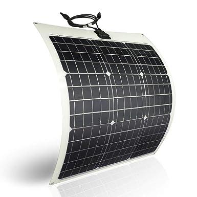 Panel solar flexible de 50 W, 12 V, monocristalino, flexible ...