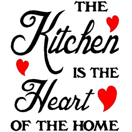 UNKE THE Kitchen IS THE Heart OF THE HOME Wall Decal Sticker Home Art Vinyl  Removable Decor