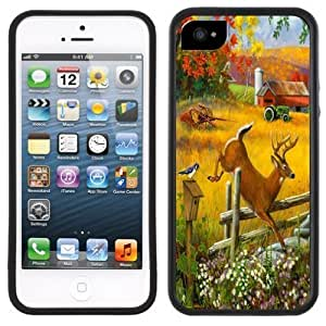 Buck Deer Farm Handmade iPhone 5C Black Case