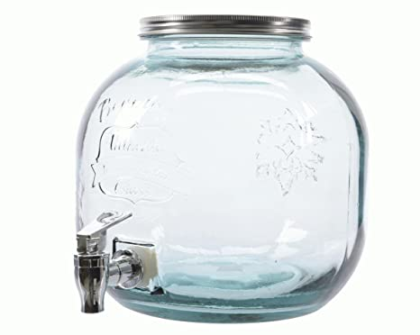 "Dispensador de bebidas ""Recycle redondo cristal de 5 l, Vintage dispensador de"