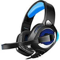 Gaming Headset for PS4, PC, Xbox One, Nintendo Switch, Laptop, PHOINIKAS H9 Xbox One Headset, 7.1 Stereo Sound, Over Ear…
