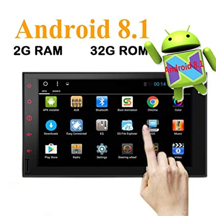 Android 8.1 Octa Core 32GB+2GB Car Stereo Radio Double 2 Din with in-