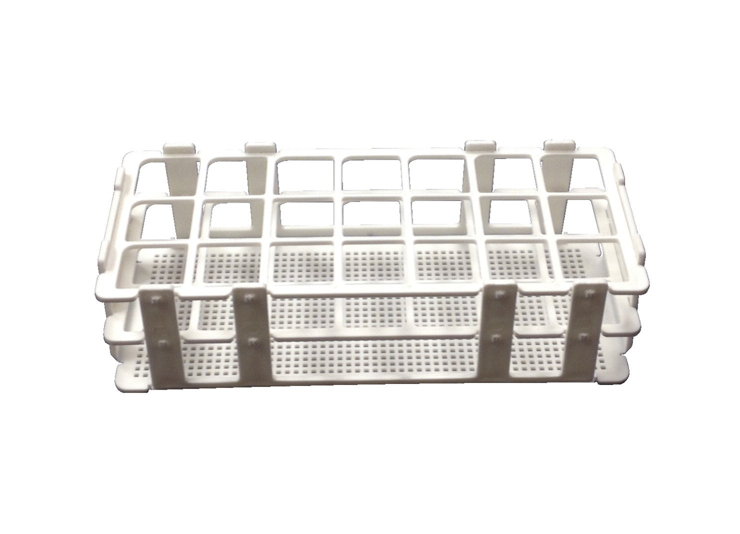 Frey Scientific No-Wire Autoclavable Polypropylene Test Tube Rack for 30mm Tube,  21 Well by Frey Scientific