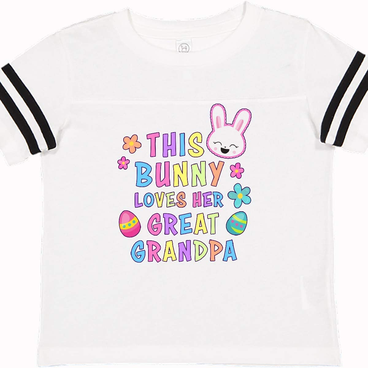 inktastic This Bunny Loves Her Great Grandpa with Bunny Face and Toddler T-Shirt