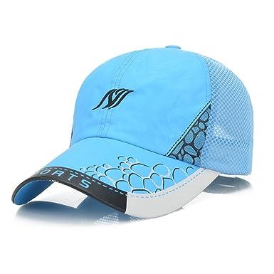 79361e4dae5 Sports Quick Dry Baseball Caps - Summer Mesh Breathable Adjustable Sun Hat  Visor Trucker Hats -