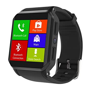 sanniya Reloj Inteligente Bluetooth, Pantalla TFT de 1.54 Pulgadas, Sistema operativo Android 5.1, monitores de frecuencia cardíaca compatibles con iOS y ...