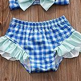 Emmababy Baby Girls Plaid Swimwear Sunsuits Two