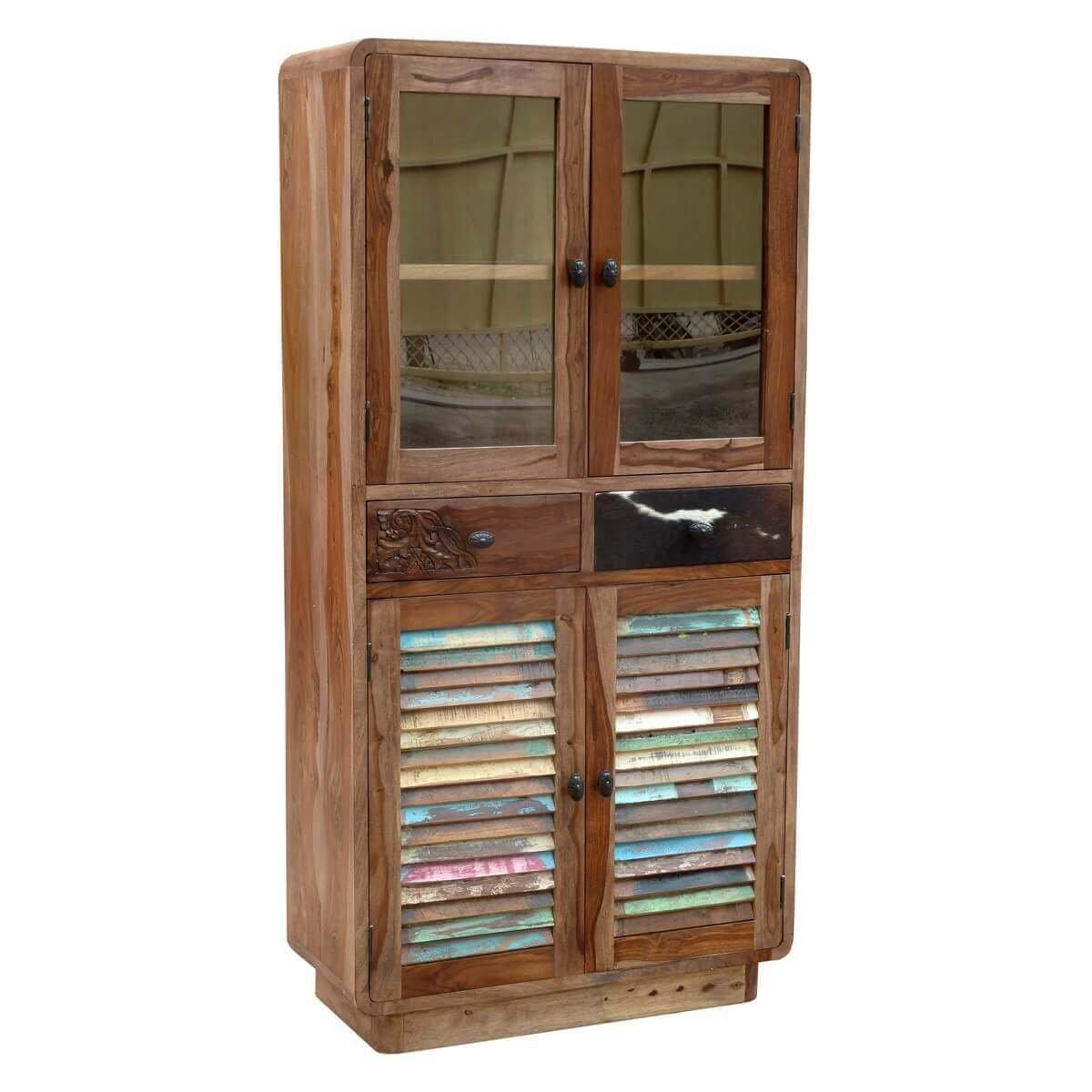 vitrinenschrank holzschrank vitrine hadsel holz massiv. Black Bedroom Furniture Sets. Home Design Ideas