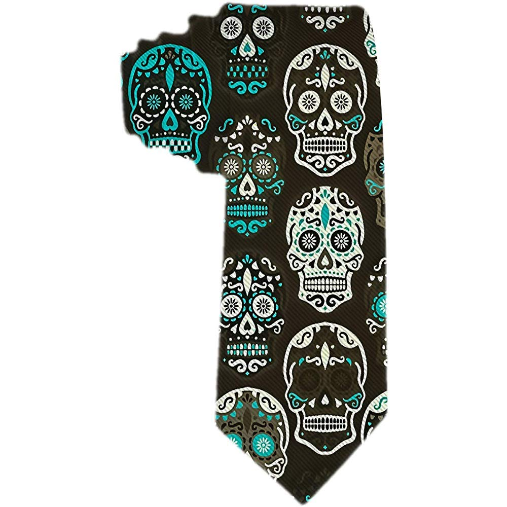 Corbata de los hombres Calaveras de azúcar de Halloween Corbata de ...