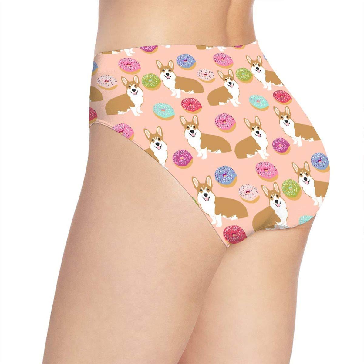 Eplus Womens Doughnuts Bulldog Underwear Soft Bikini Briefs Panties
