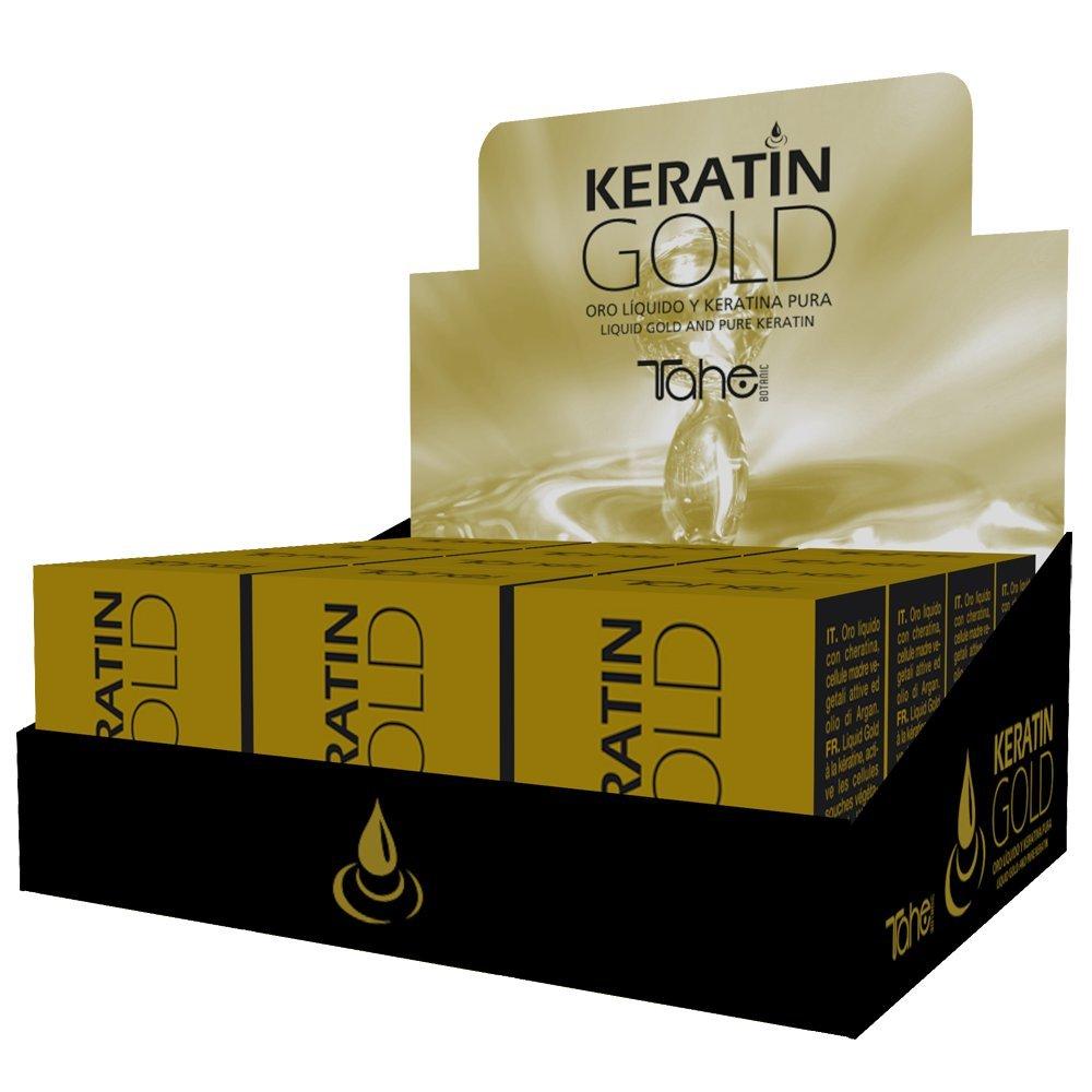 Tahe Keratin Gold Oro líquido con Queratina Pura, Células Madre Vegetales Activas y Aceite de Argán, 30 ml: Amazon.es: Belleza