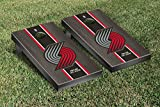 Portland Blazers Trailblazers NBA Basketball Regulation Cornhole Game Set Onyx Stained Stripe Version