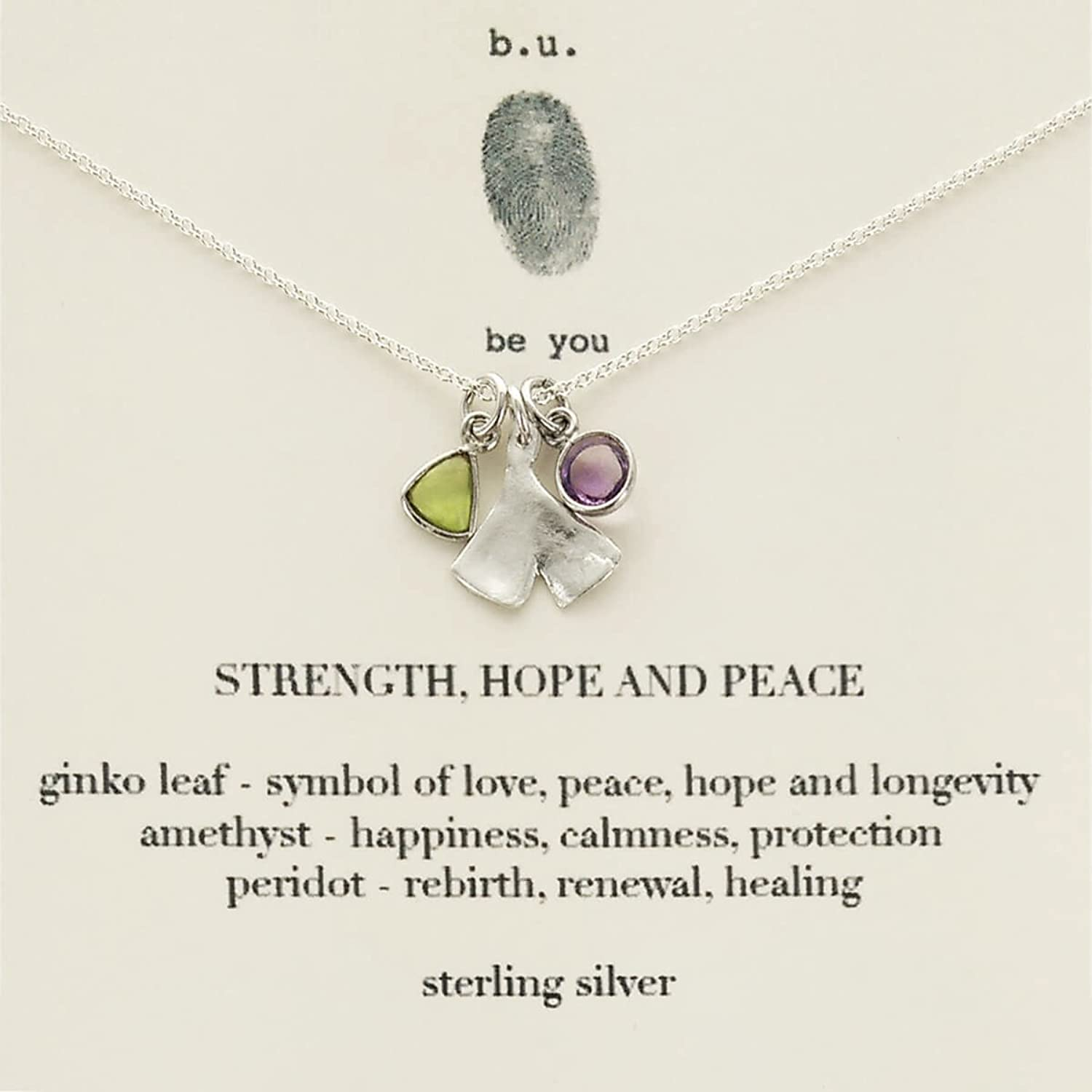 Amazon Bu Strength Hope And Peace Necklace 16 18 Jewelry