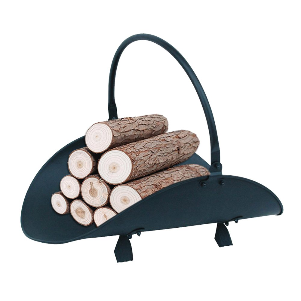 Fasmov Fireplace Log Holder Wood Holders Rack Fire Wood Basket Log Bin for Fireplace with Handle by Fasmov (Image #2)