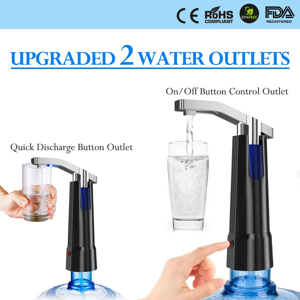Water Pump Dispenser BMK Electric Gallon Drinking Bottle Water Dispensing Pump with On/Off Switch & Touch Button 2 Working Modes for Home Kitchen Office by BMK BLUEMICKEY (Image #2)