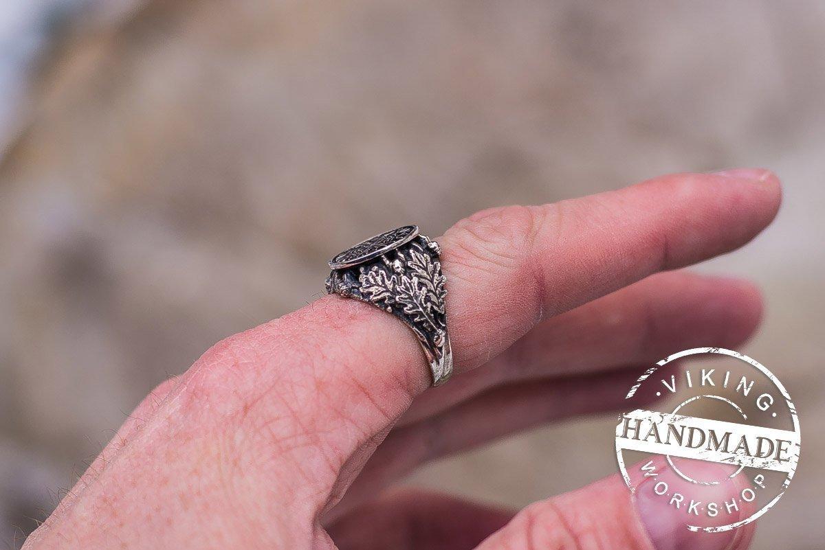 Amazon.com: Aegishjalmur or Helm of Awe Ring Sterling Silver Ring ...