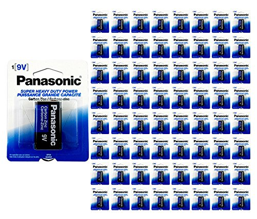 96x Panasonic Heavy Duty 9 Volt Batteries Wholesale Lot 9V Carbon Zinc 9V1 x96 by 21Supply