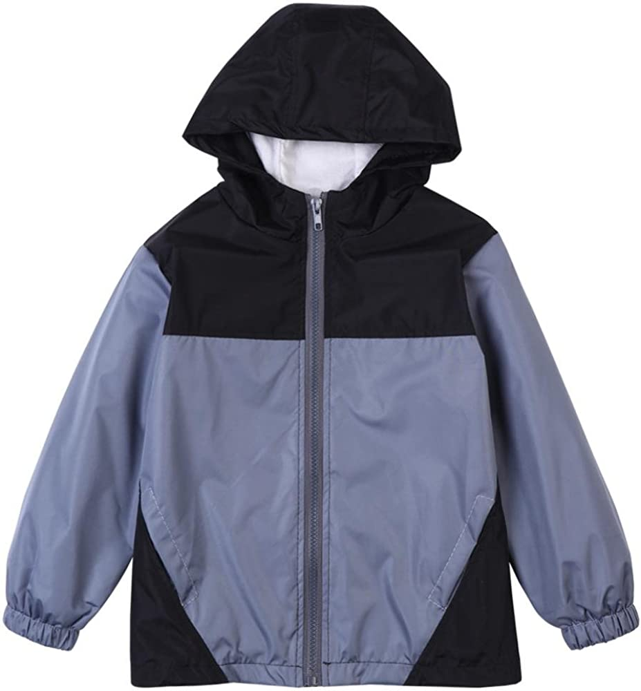 Wennikids Baby Girls Boys Raincoat Windbreaker Hooded Bomber Jacket