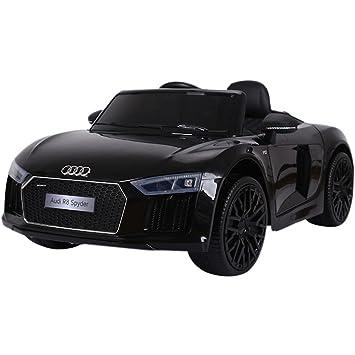 Kalco Toys Uk Large Black 2018 Audi R8 Electric Ride On Kids Car
