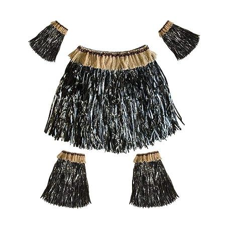 Presentimer Falda Hawaiana de la Hierba del Vestido Mujeres, 5 ...