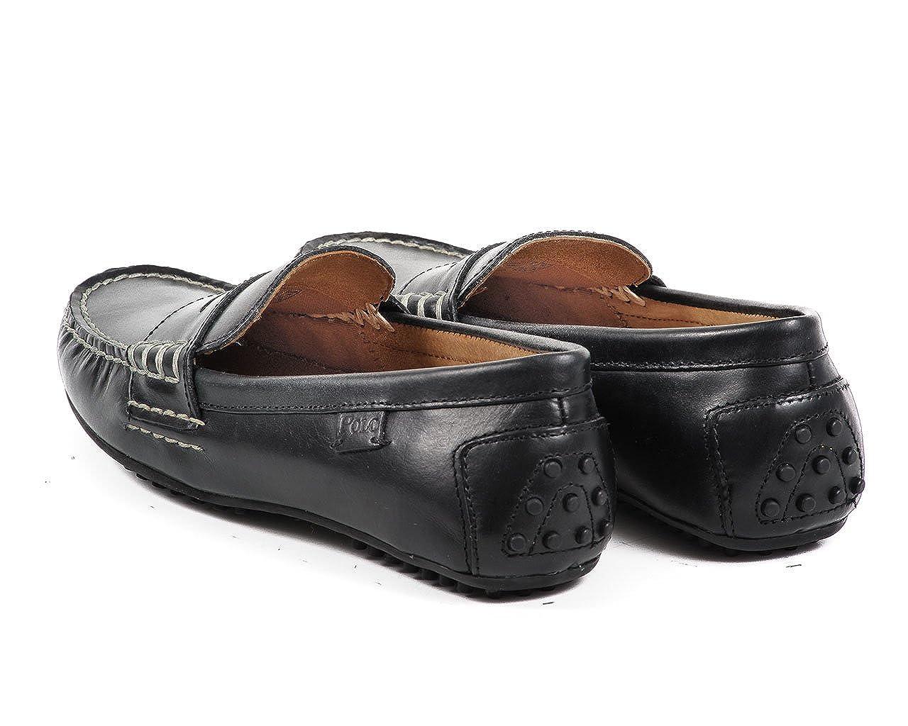 Polo Ralph Lauren - Mocasines negros suaves de hombre negro Size: 43: Amazon.es: Zapatos y complementos