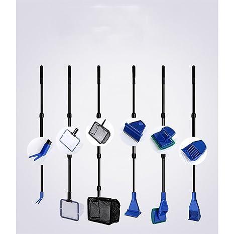 GFEU Juego de Equipo de Limpieza para Acuario, 6 en 1, Kit de Limpieza