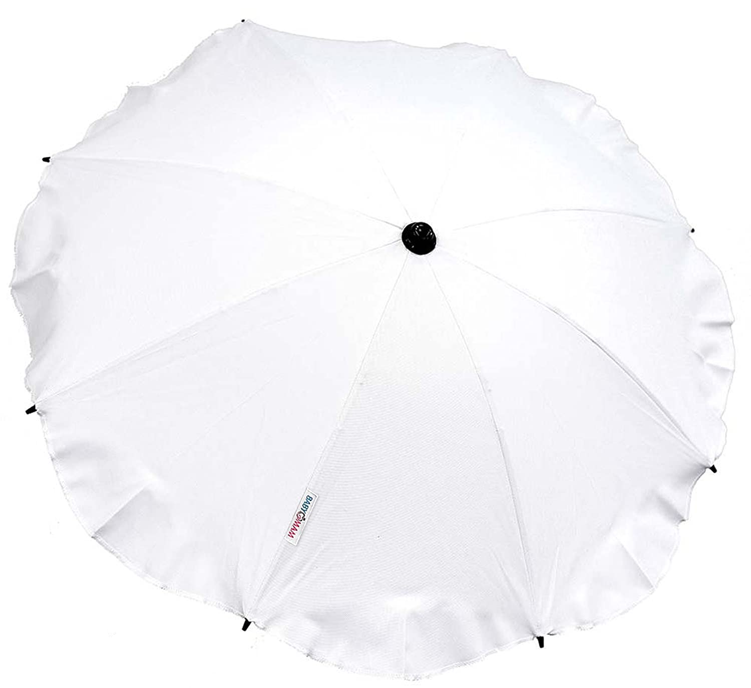 Baby Sun Umbrella Parasol Baby PRAM Pushchair Buggy Canopy Protect from Sun/RAIN (White) Thelittles24