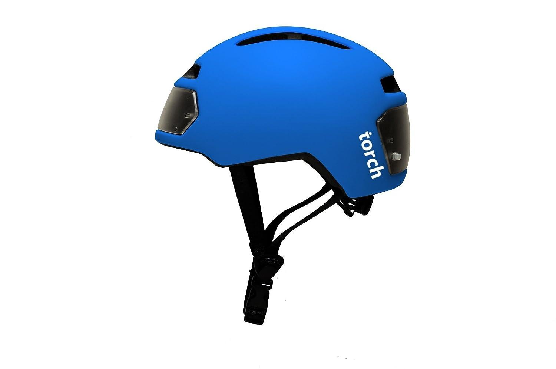 Torch T2 Fahrradhelm mit integriertem Licht, Electric Blau