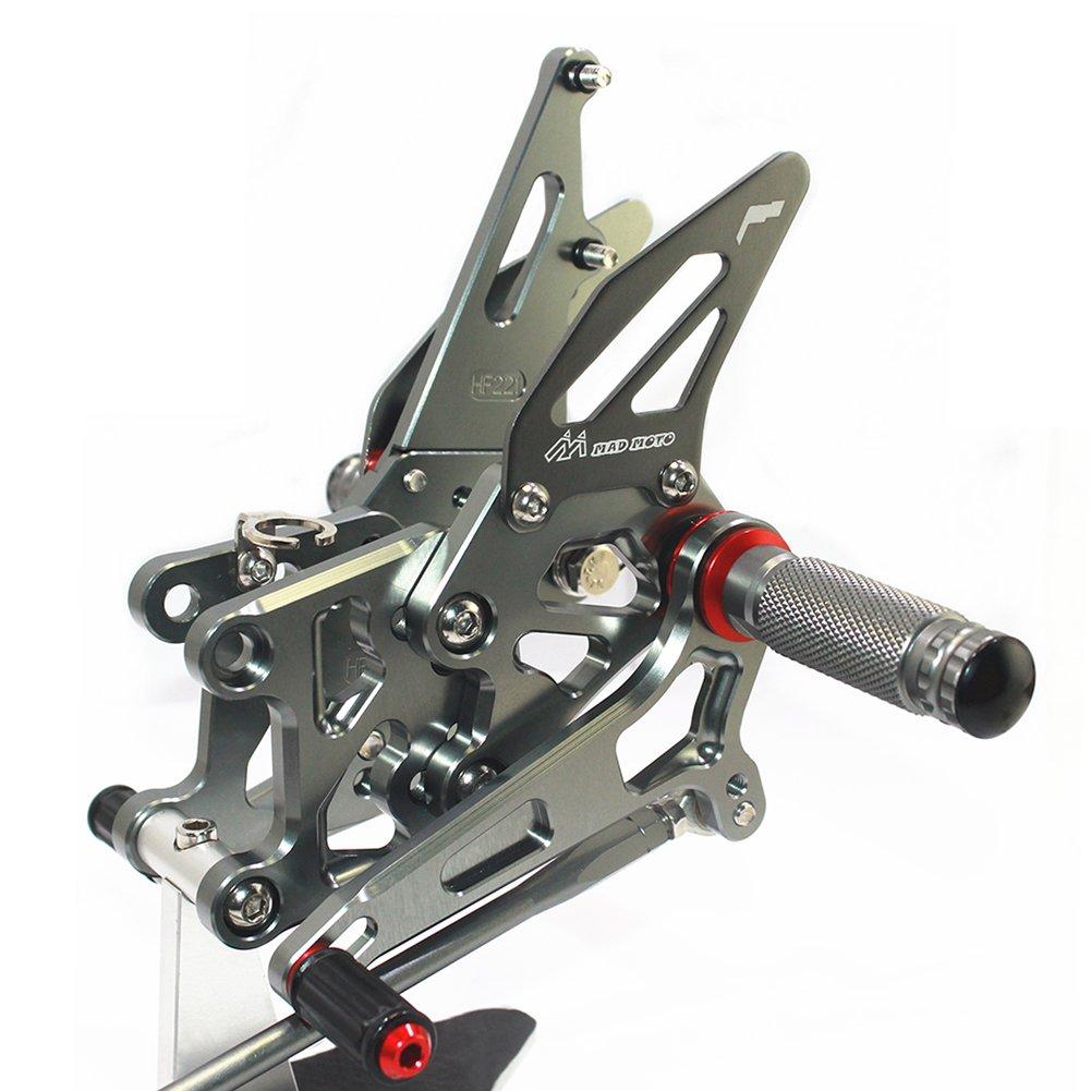 CNC moto regolabile poggiapiedi per Cbr 600 07-14 Rearset pedane posteriori set poggiapiedi Fit per Cbr 600 07-14