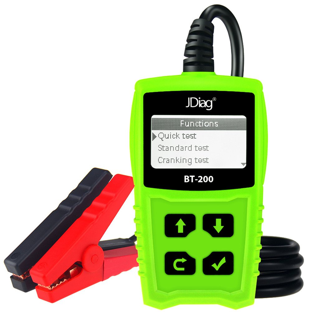 JDiag FasCheck BT-200 Professional Car Load Battery Tester 12V 100-2000 CCA 220AH Digital Battery Analyzer Bad Cell Test Tool for Automotive/Truck/Motorbike Etc(Green)