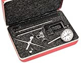 Starrett 196A6Z Universal Dial Indicator, Antimagnetic, Back Plunger, White Dial, 0-100 Reading, 0-0.2