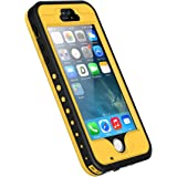 iPhone 5S/SE/5 Waterproof Case, iThroughTM iPhone 5 Underwater Case, Dust Proof, Snow Proof, ShockProof Case with Screen Protector, Heavy Duty Protective Carrying Cover Case for iPhone 5S/5/SE(Yellow)