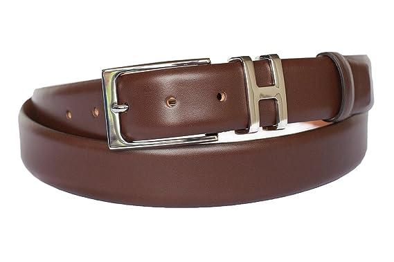 258fe4c231a2ed Leder-Gürtel für Herren in braun: 100% Kalbsleder, Gürtel-Schnalle  nickelfrei, hergestellt in Handarbeit, ideal als Jeans-Gürtel, Anzug-Gürtel  - Vollleder ...