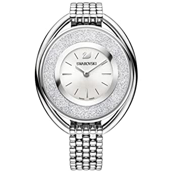 6de6e881e4f3 Ladies  Swarovski Crystal Crystalline Oval Silver-Tone Bracelet Watch  5181008