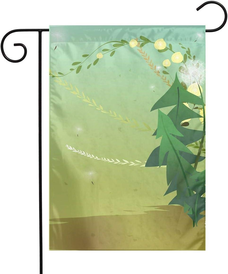 Pooizsdzzz Kitten and Violin Among Dandelions Festival Garden Flag Front Door Flag Decorative Home Outdoor Flag 1218 Inch