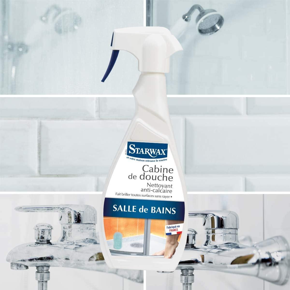Starwax Nettoyant cabine de douche anti-calcaire - Le spray de 19ml