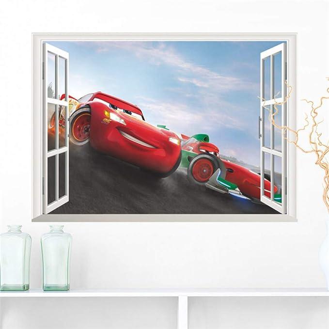 VIOYO 3D Disney Cars Ventana Pegatinas de Pared Dormitorio ...
