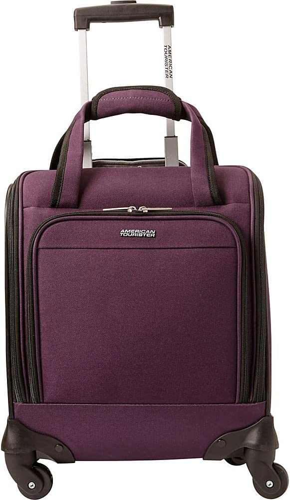American Tourister Lynnwood 16 Inch Underseat Spinner Carry-On Luggage With Wheels - (Eggplant)